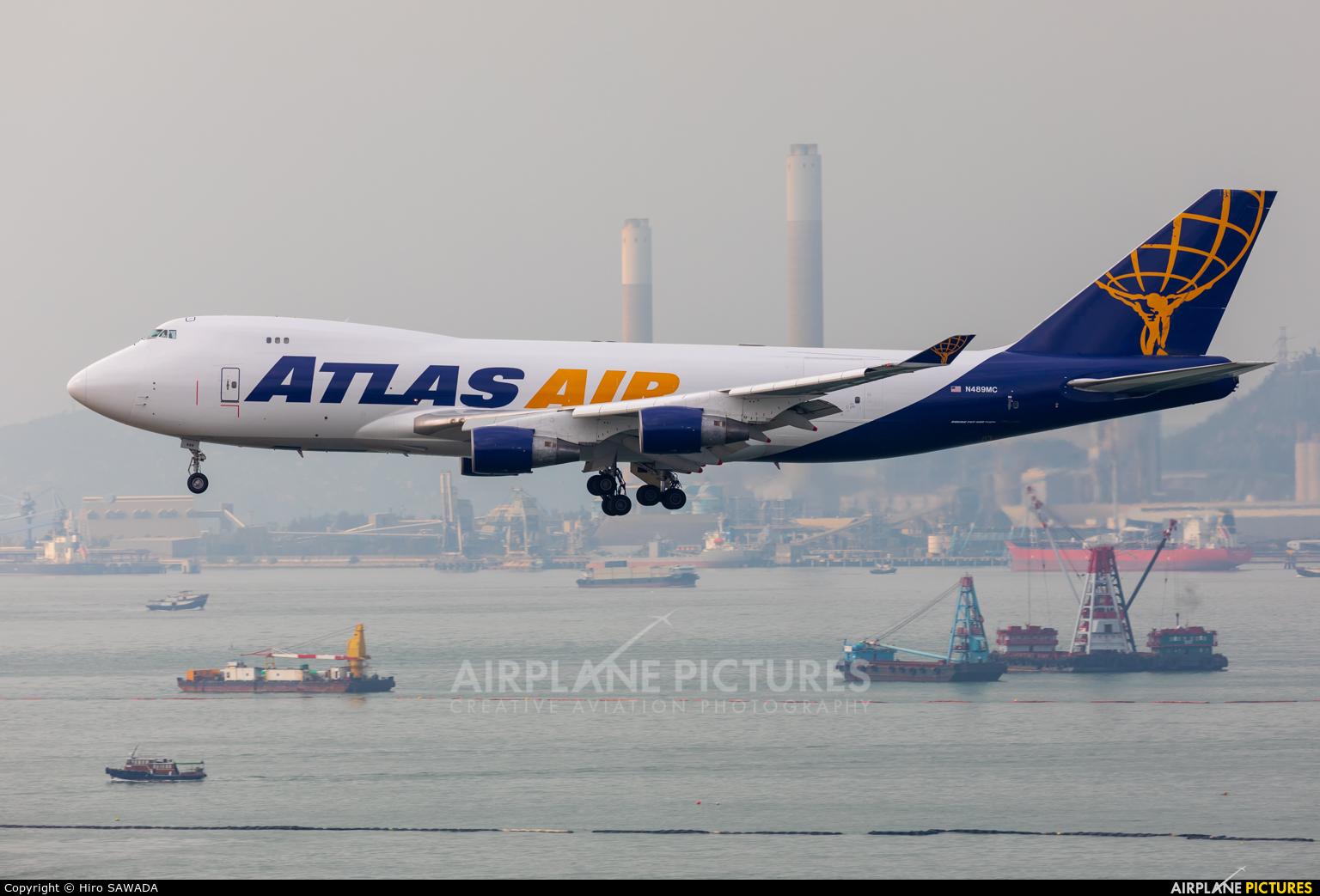 Atlas Air N489MC aircraft at HKG - Chek Lap Kok Intl