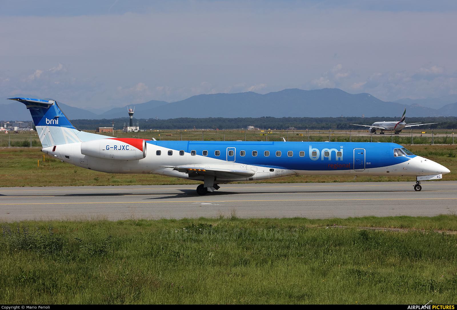 BMI Regional G-RJXC aircraft at Milan - Malpensa