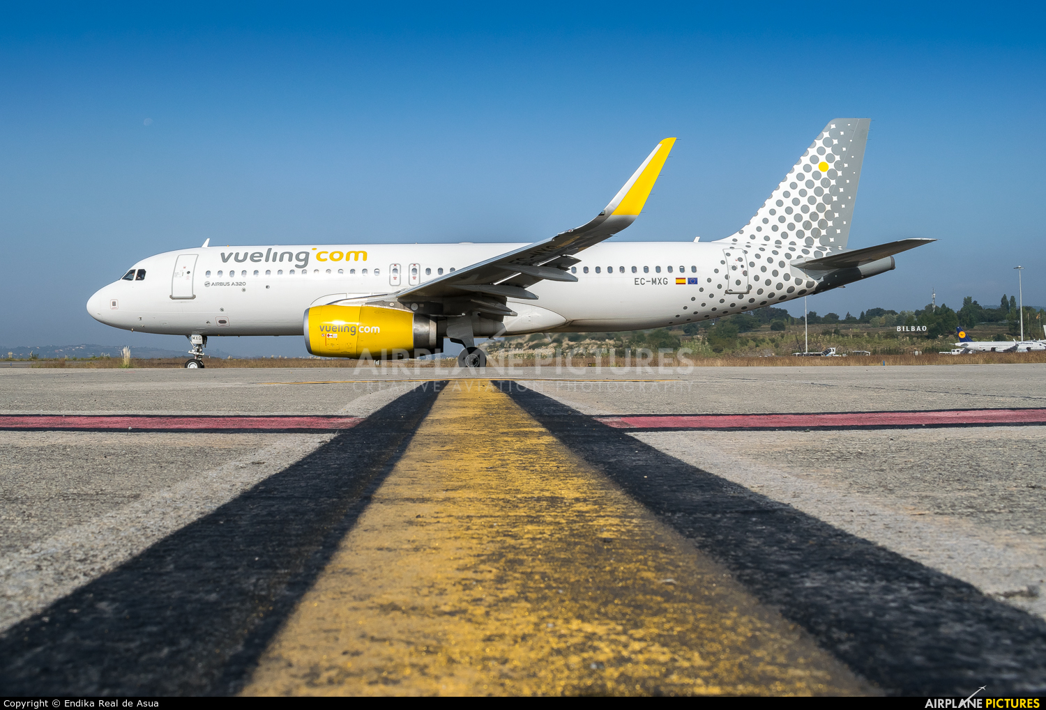 Vueling Airlines EC-MXG aircraft at Bilbao