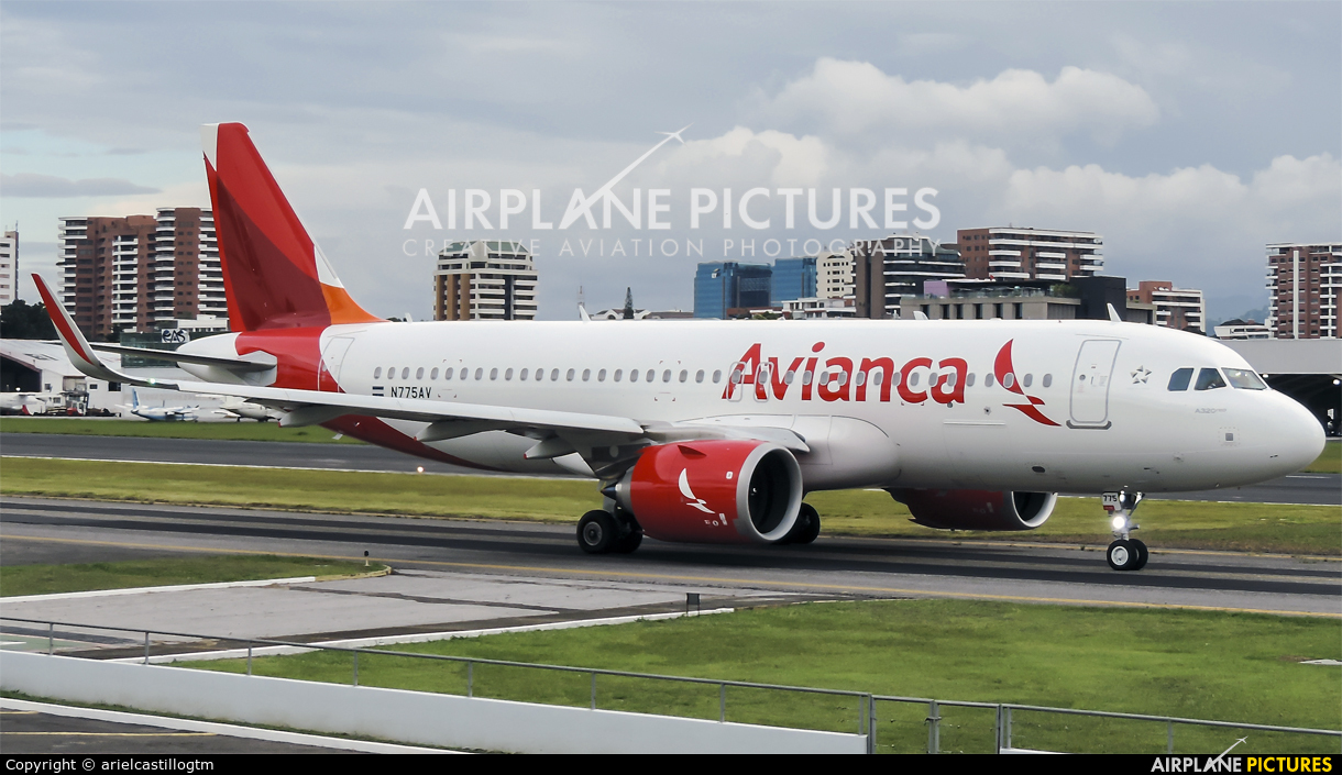 Avianca N775AV aircraft at Guatemala - La Aurora
