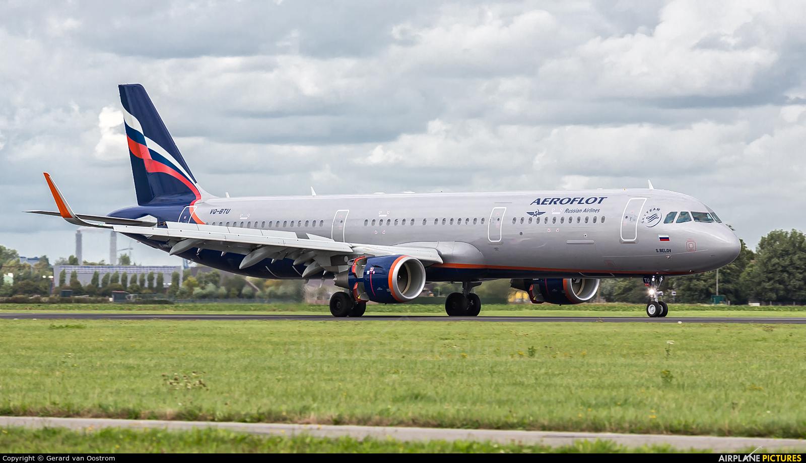 Aeroflot VQ-BTU aircraft at Amsterdam - Schiphol