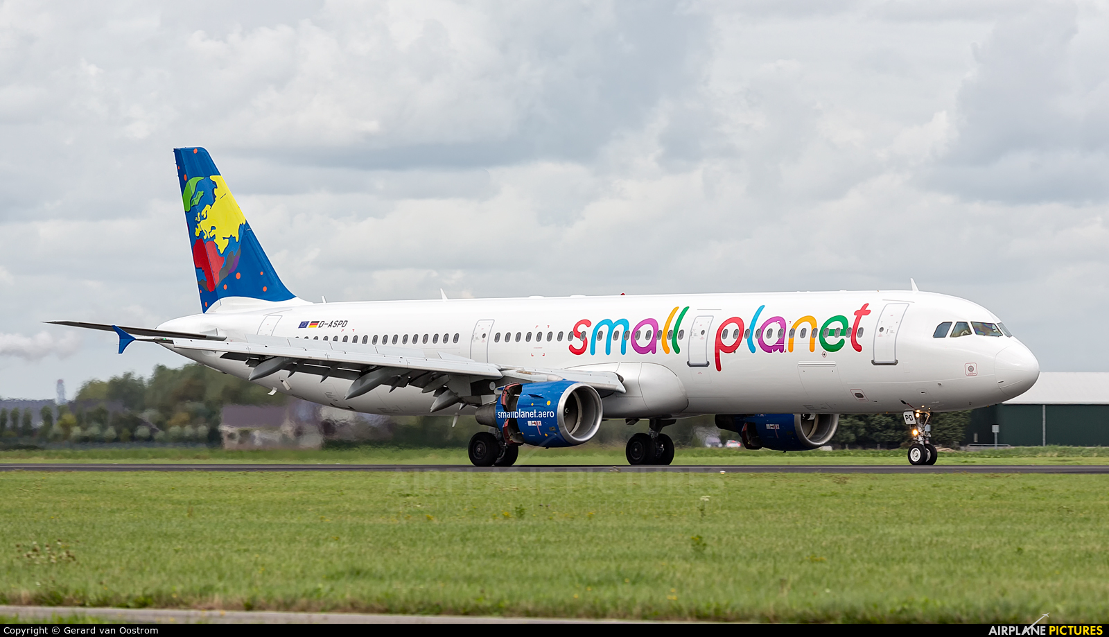 Small Planet Airlines D-ASPD aircraft at Amsterdam - Schiphol