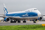 Air Bridge Cargo B748 brought aircraft for Red Bull Air Race to Linz title=