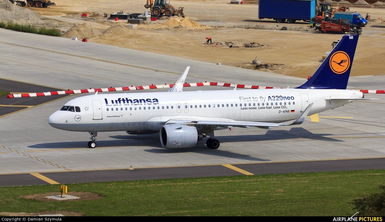 Lufthansa D-AINB aircraft at Kraków - John Paul II Intl