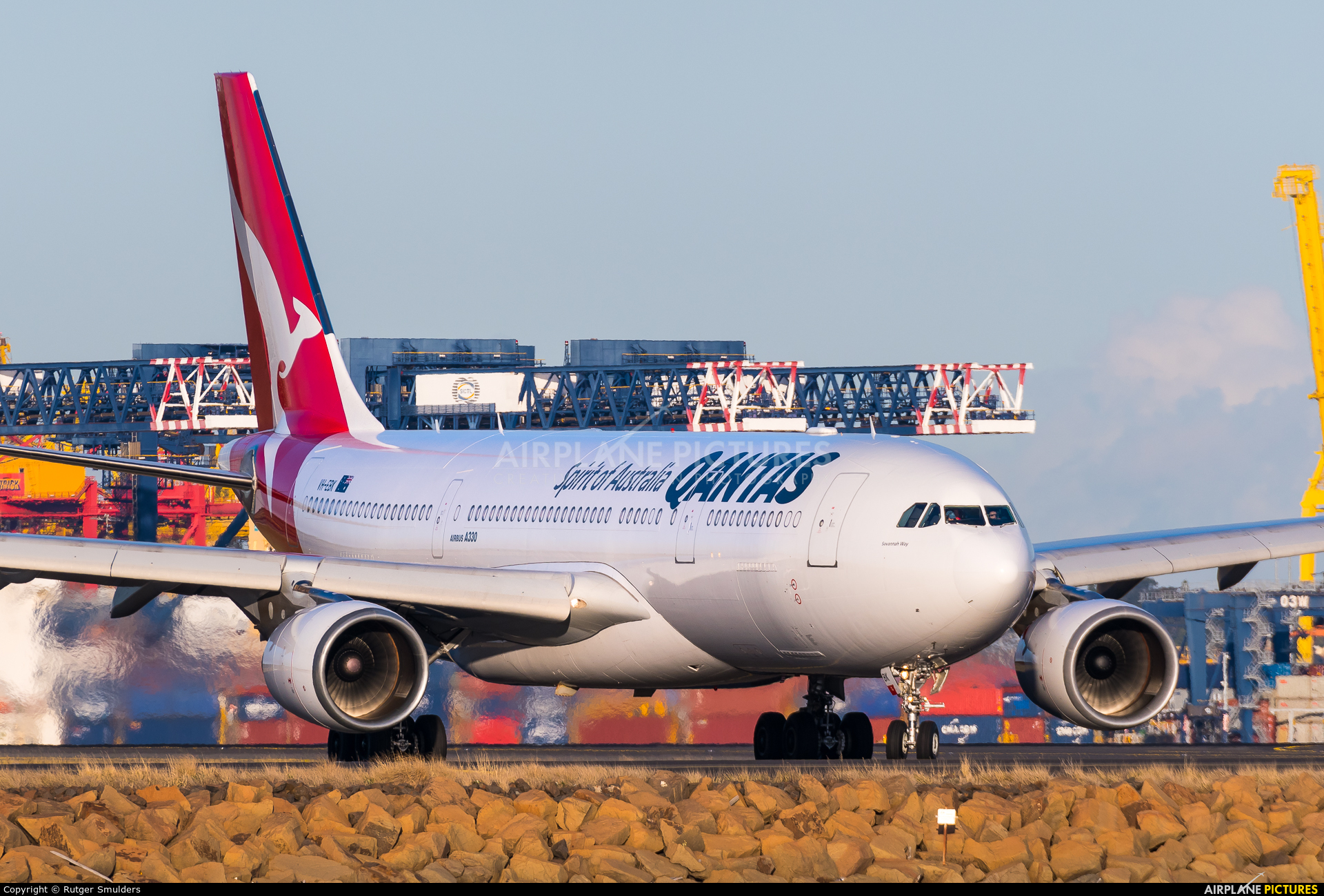 QANTAS VH-EBK aircraft at Sydney - Kingsford Smith Intl, NSW