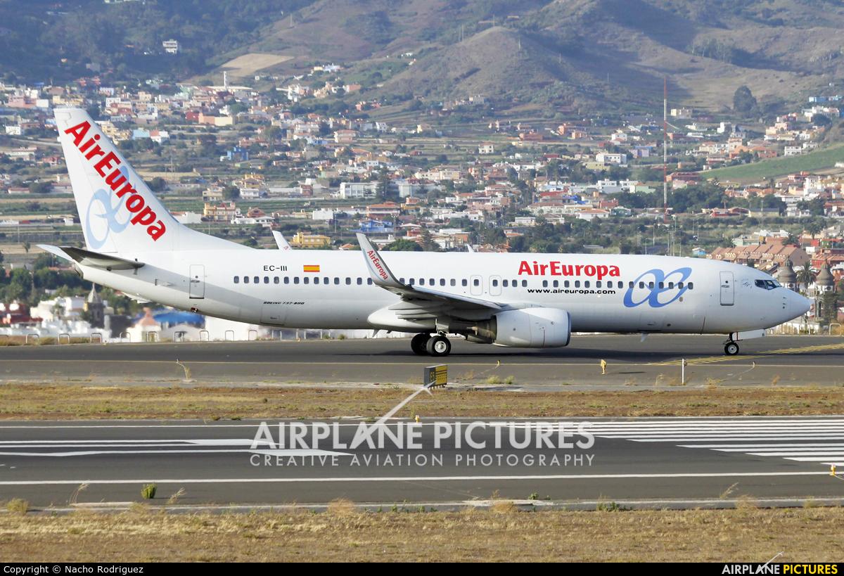 Air Europa EC-III aircraft at Tenerife Norte - Los Rodeos