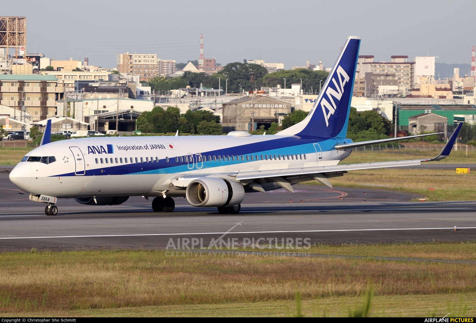 ANA - All Nippon Airways JA56AN aircraft at Osaka - Itami Intl