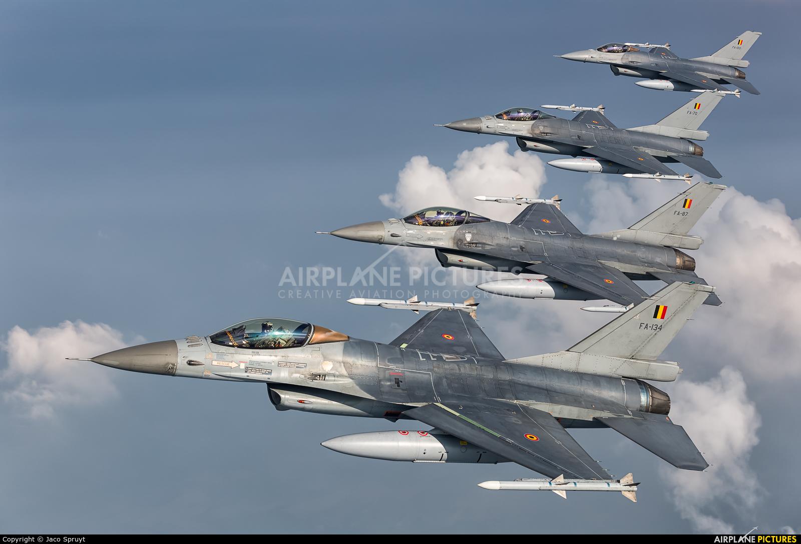 Belgium - Air Force FA-134 aircraft at In Flight - Belgium