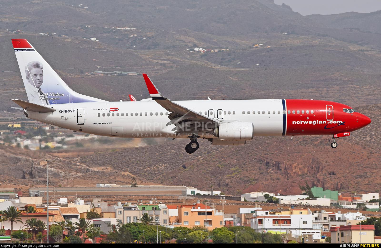 Norwegian Air Shuttle G-NRWY aircraft at Aeropuerto de Gran Canaria