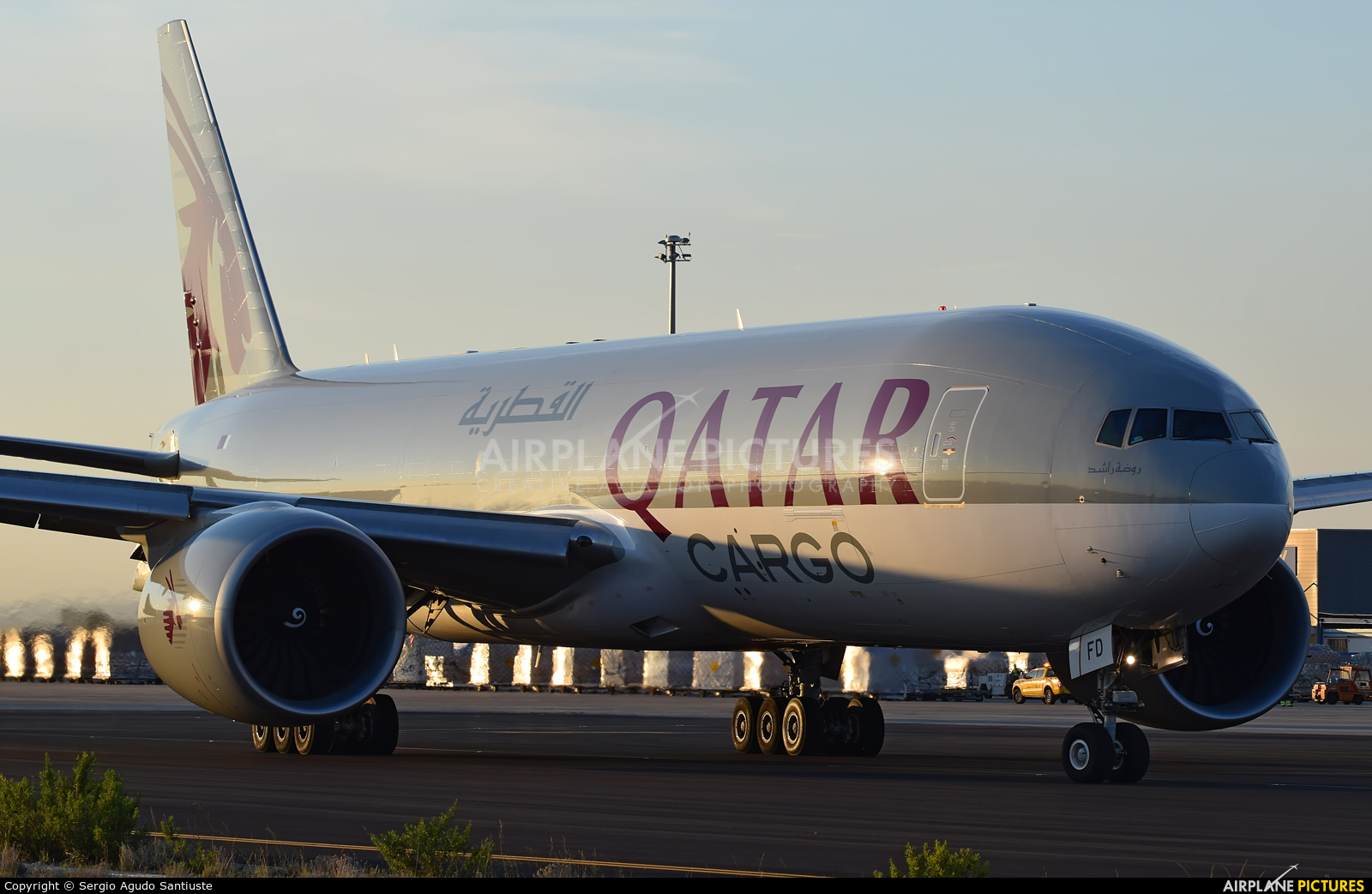 Qatar Airways Cargo A7-BFD aircraft at Zaragoza
