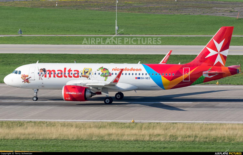 Air Malta 9H-NEO aircraft at Zurich