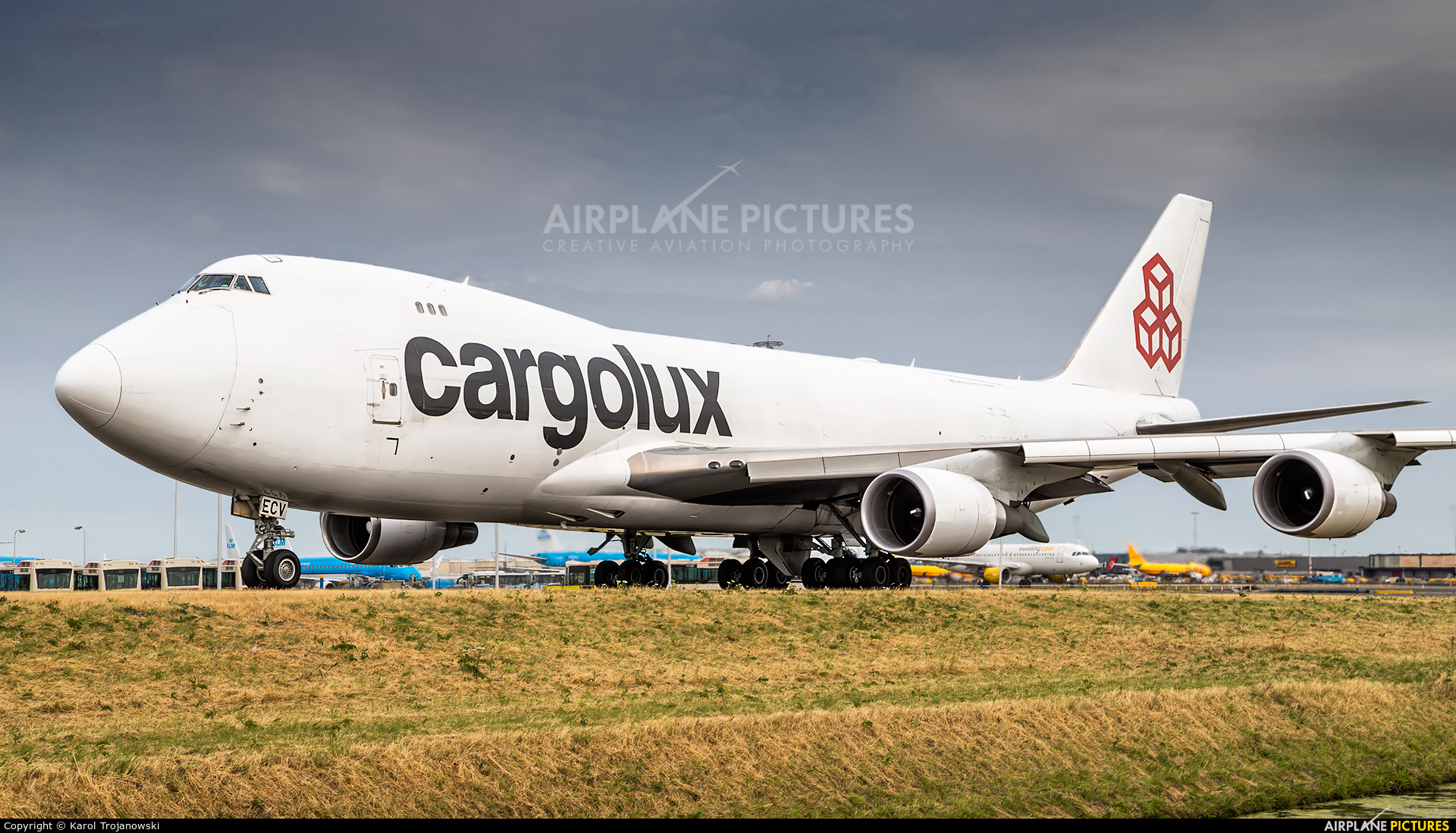 Cargolux LX-ECV aircraft at Amsterdam - Schiphol