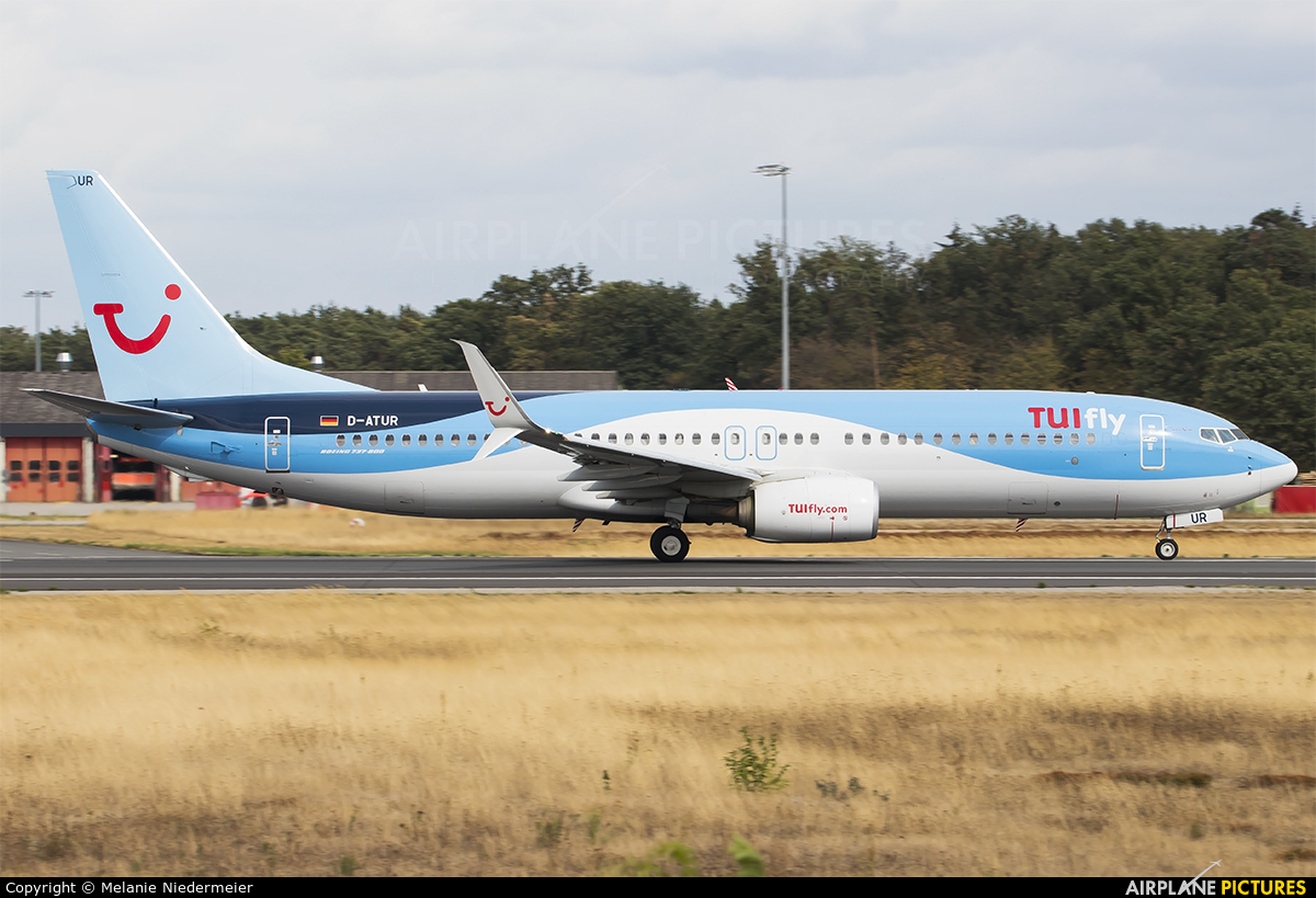 TUIfly D-ATUR aircraft at Frankfurt