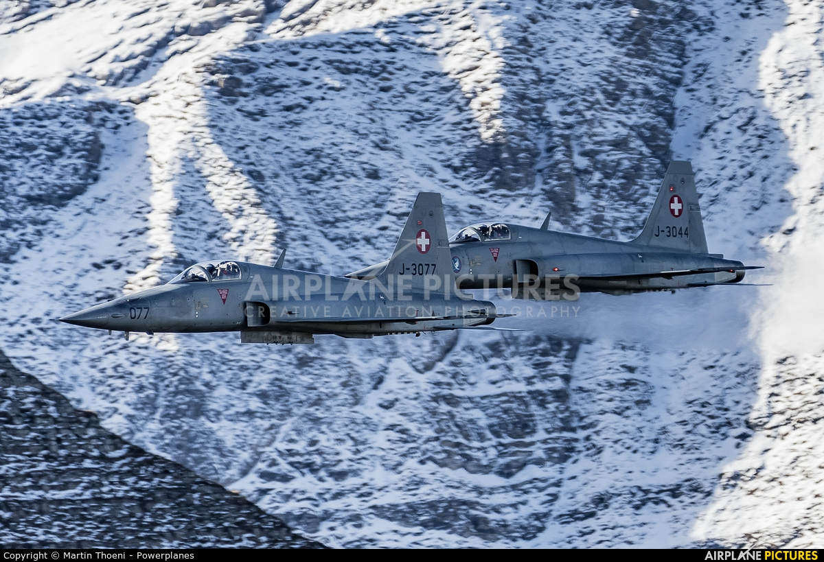 Switzerland - Air Force J-3077 aircraft at Axalp - Ebenfluh Range
