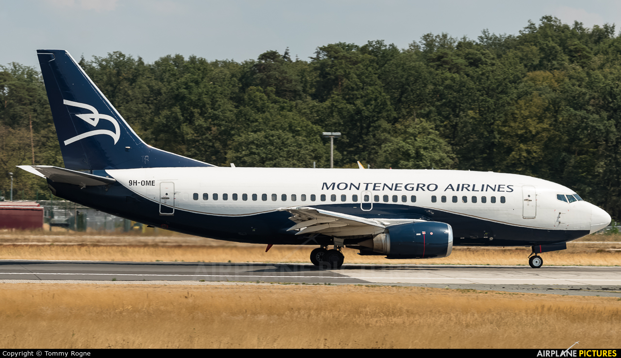 Montenegro Airlines 9H-OME aircraft at Frankfurt
