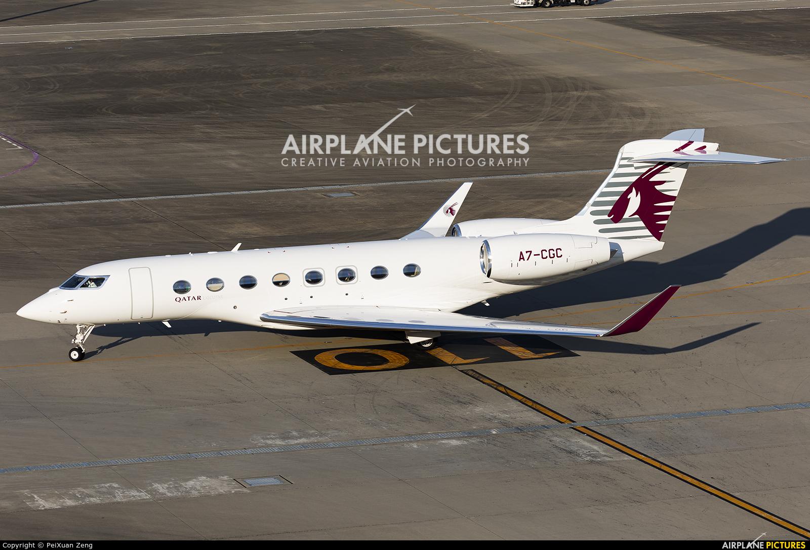 Qatar Executive A7-CGC aircraft at Tokyo - Haneda Intl