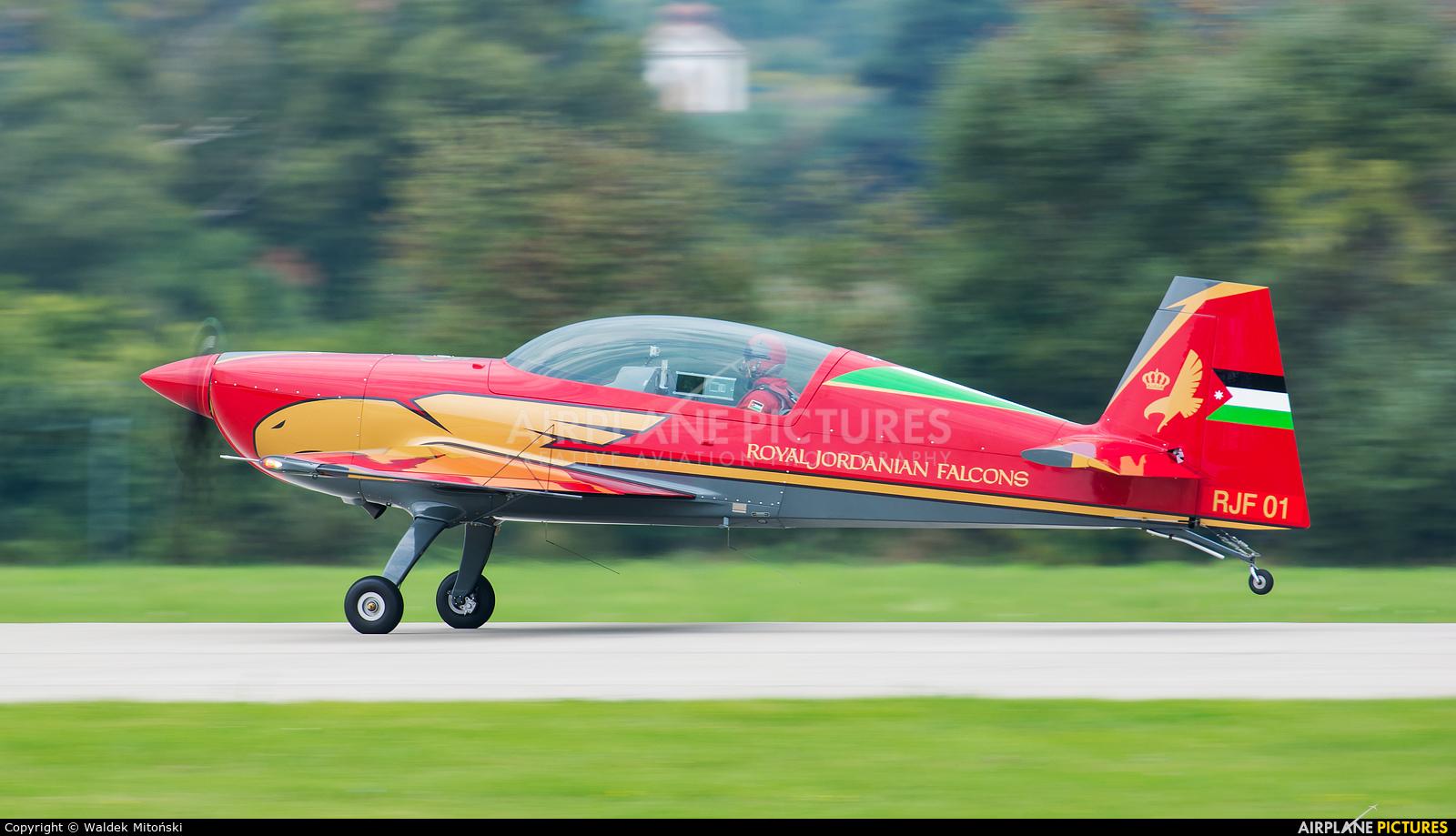 Royal Jordanian Falcons RJF-01 aircraft at Sliač