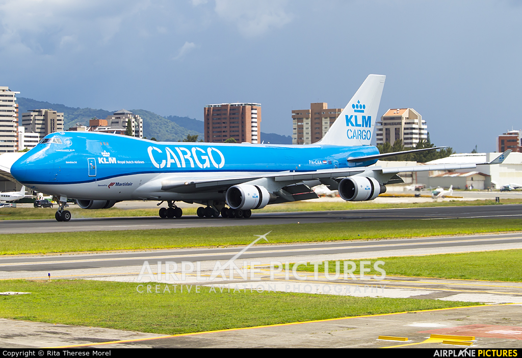 KLM Cargo PH-CKA aircraft at Guatemala - La Aurora