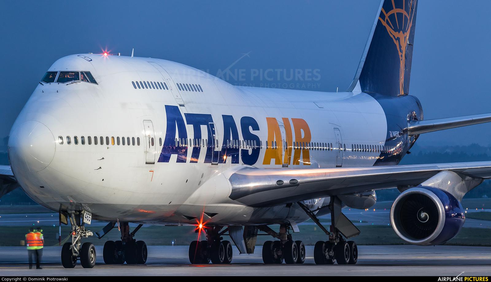 Atlas Air N465MC aircraft at Gdańsk - Lech Wałęsa