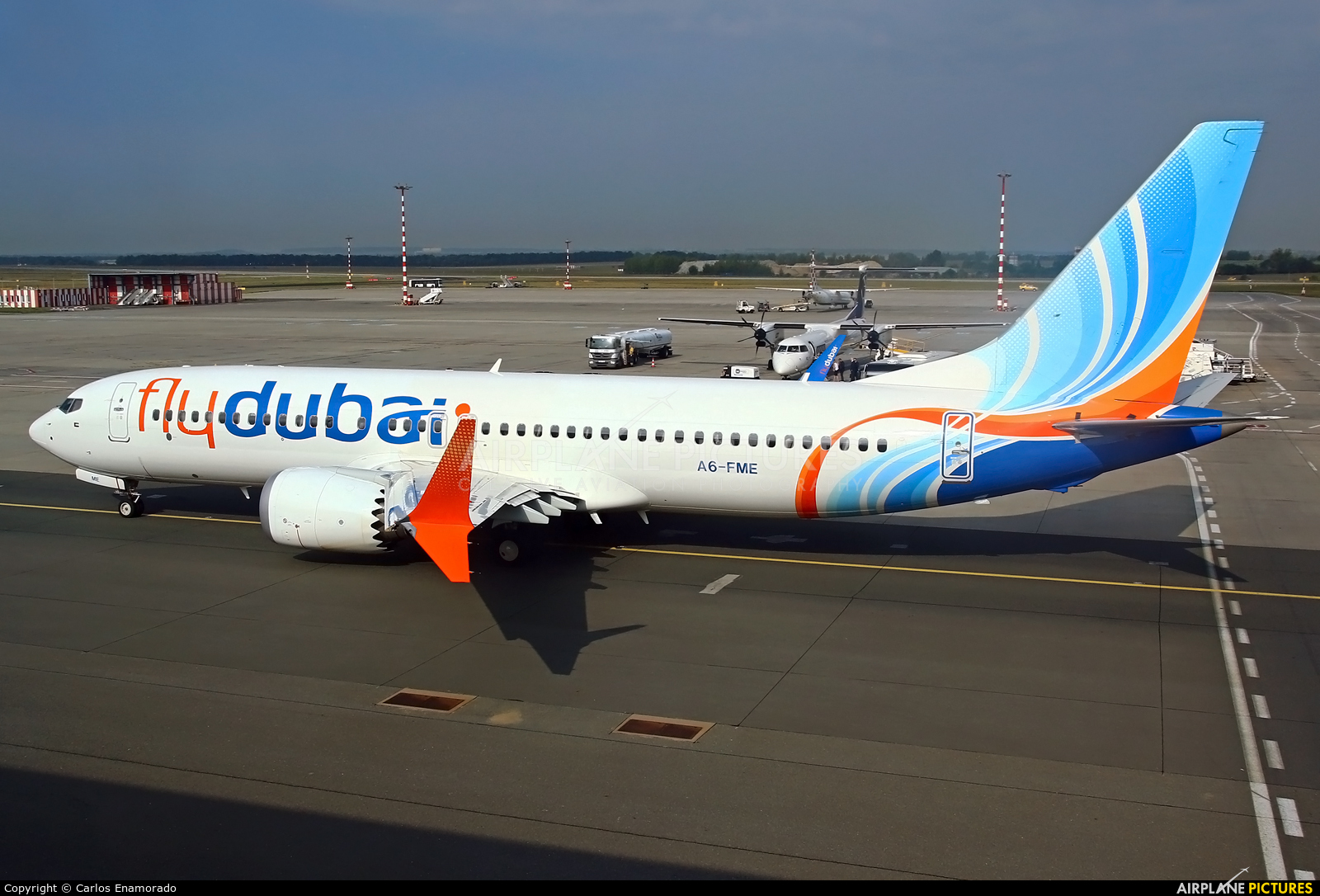flyDubai A6-FME aircraft at Prague - Václav Havel