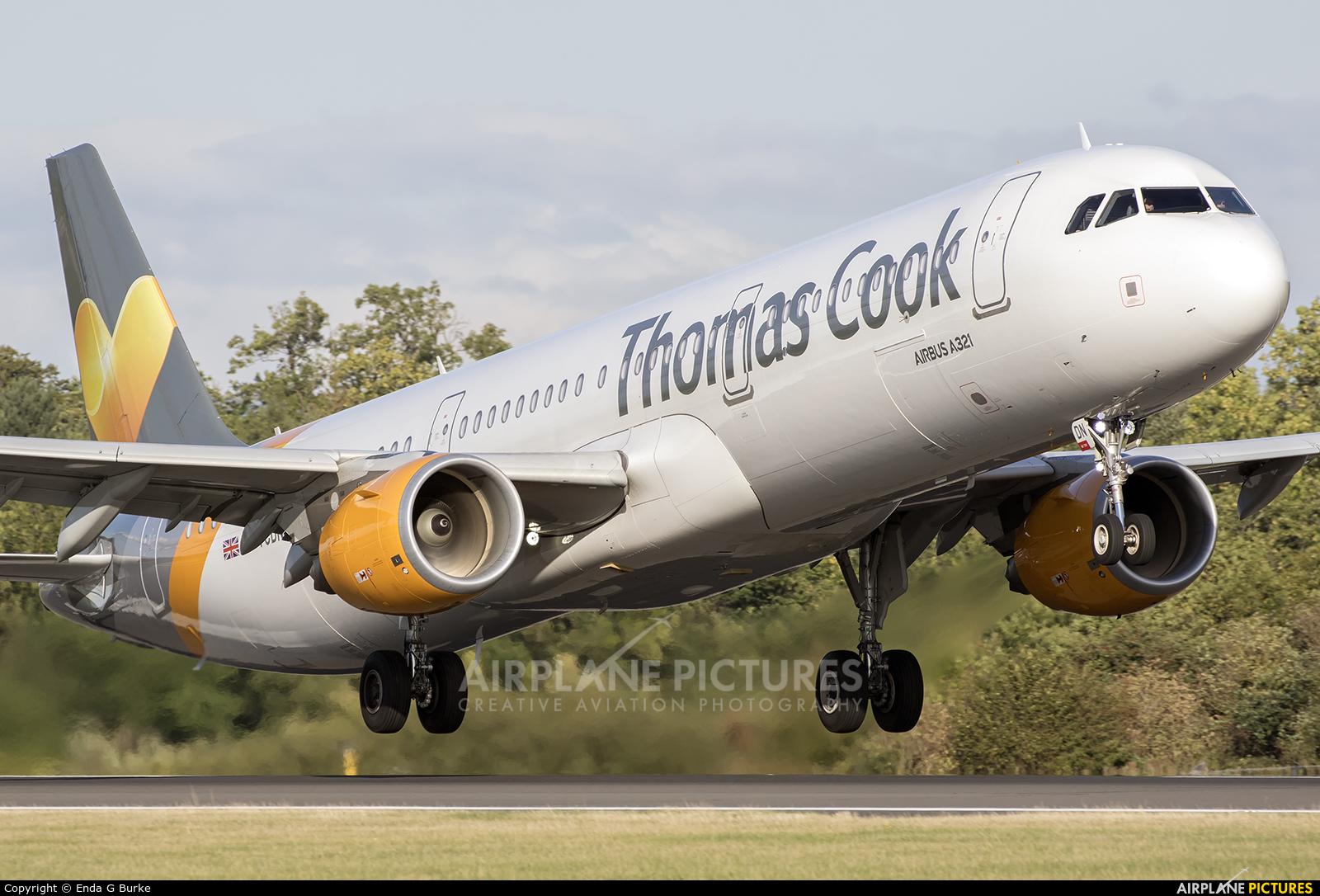 Thomas Cook G-TCDN aircraft at Manchester