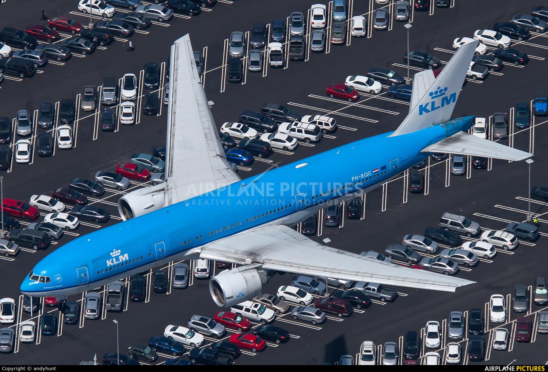 KLM PH-BQG aircraft at Los Angeles Intl