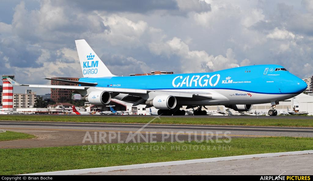 KLM Cargo PH-CKA aircraft at Guatemala - La Aurora