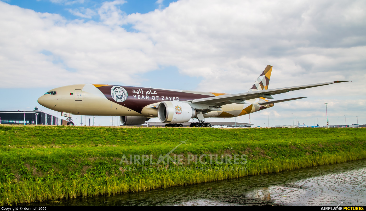 Etihad Cargo A6-DDE aircraft at Amsterdam - Schiphol