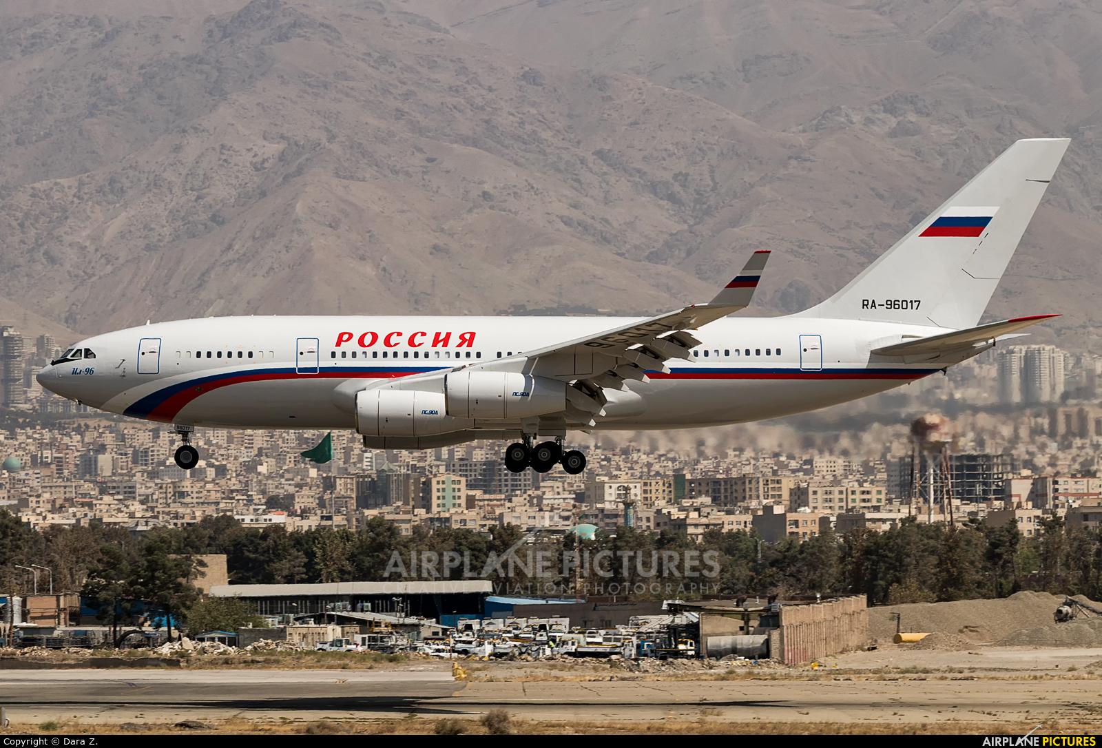 Rossiya RA-96017 aircraft at Tehran - Mehrabad Intl