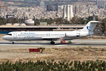 EP-SUS - Karun Airlines Fokker 100