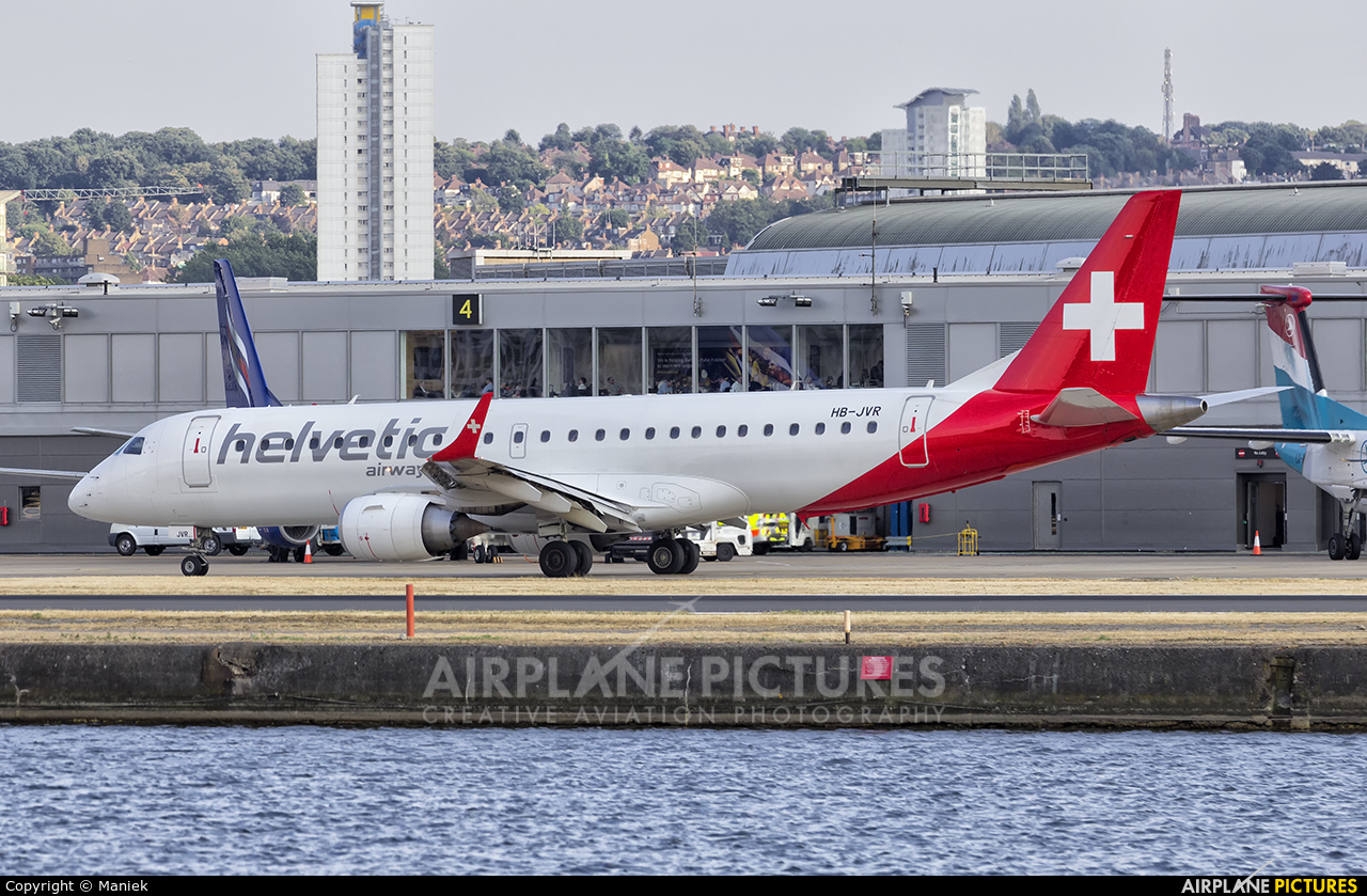 Helvetic Airways HB-JVR aircraft at London - City