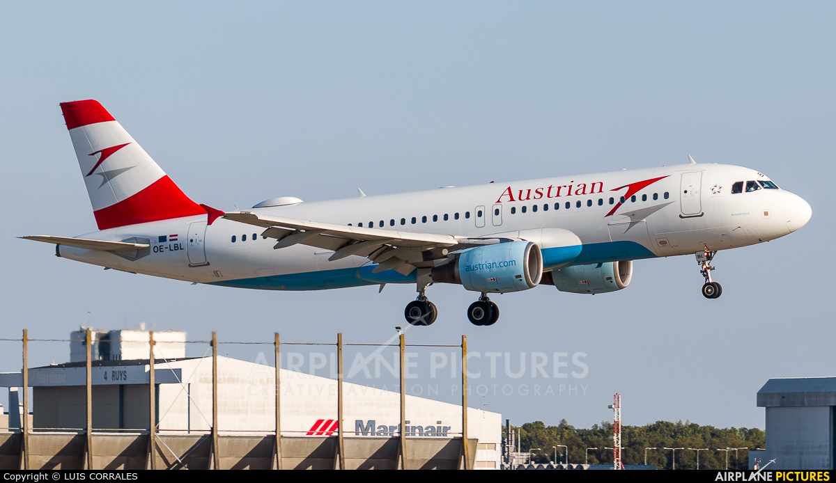 Austrian Airlines/Arrows/Tyrolean OE-LBL aircraft at Amsterdam - Schiphol