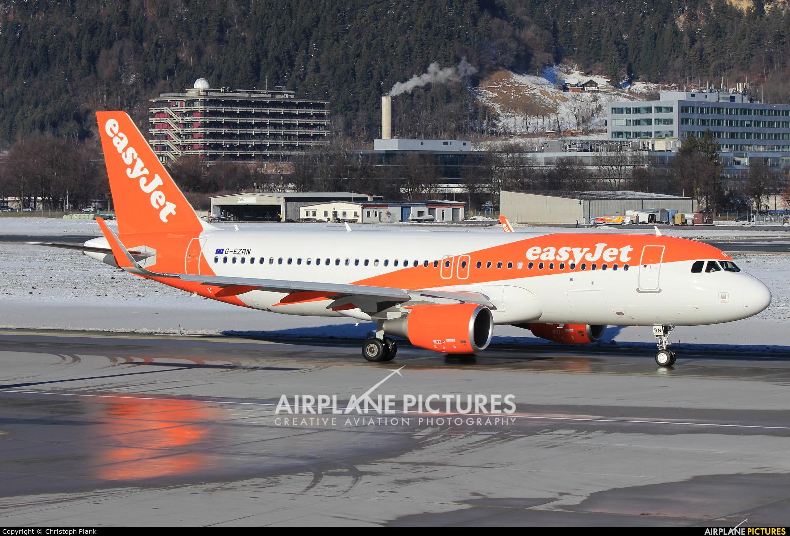 easyJet G-EZRN aircraft at Innsbruck