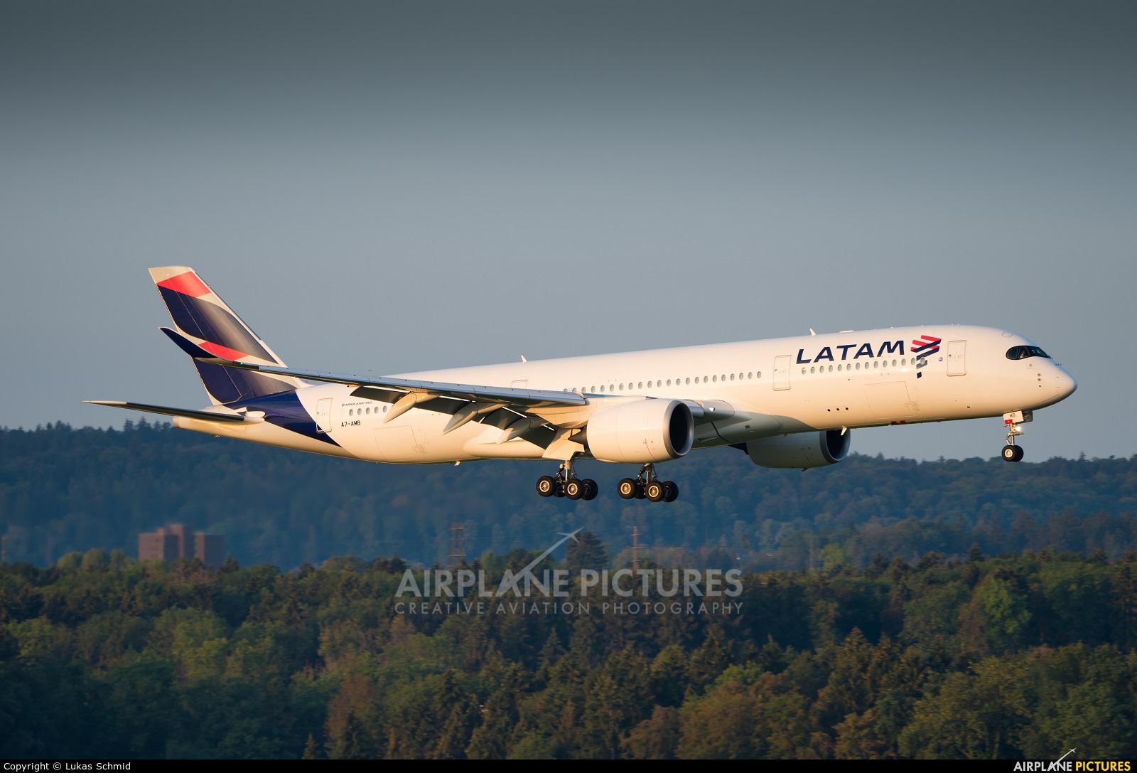 LATAM A7-AMB aircraft at Zurich