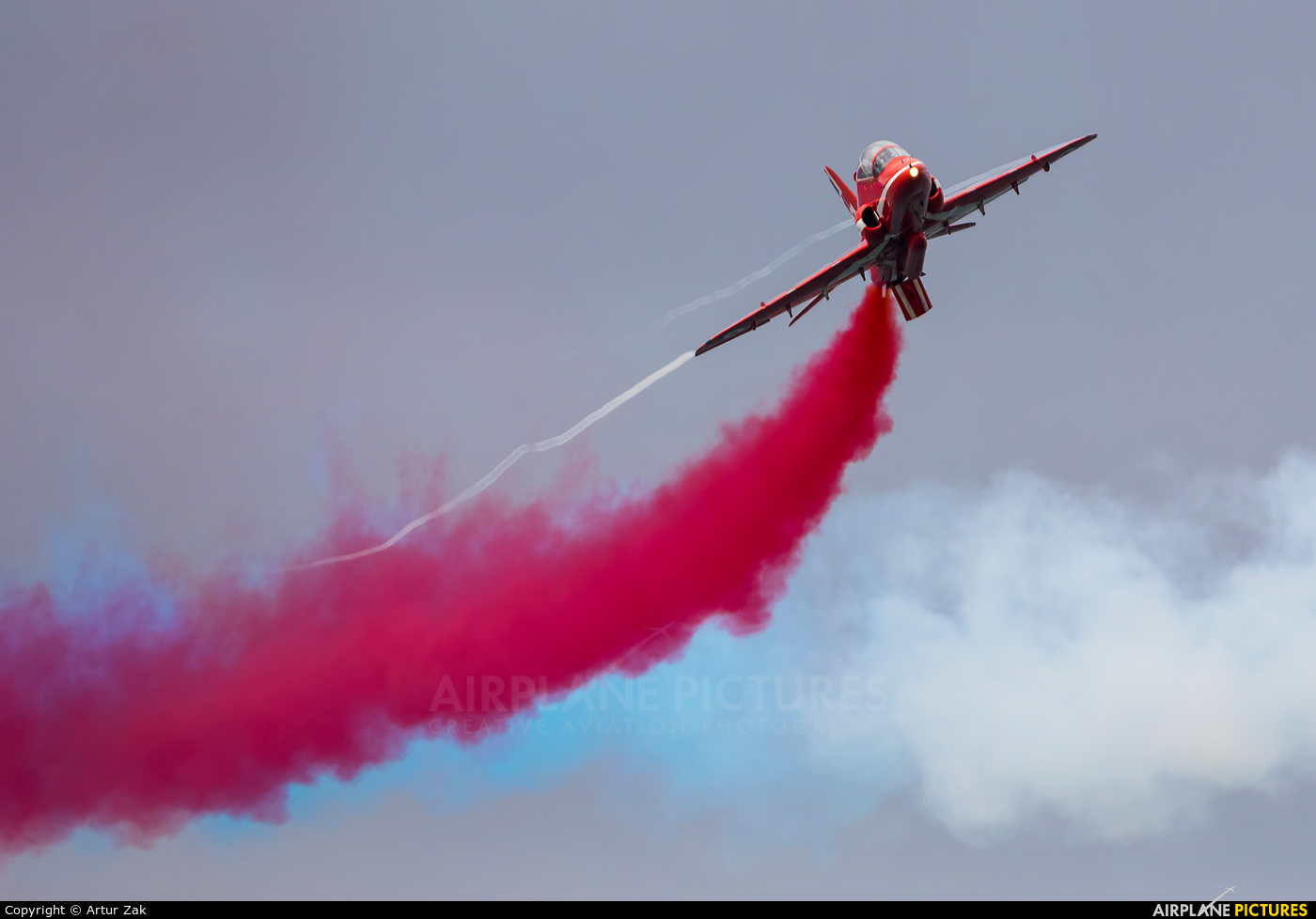 "Royal Air Force ""Red Arrows"" XX232 aircraft at Portrush - Off Airport"