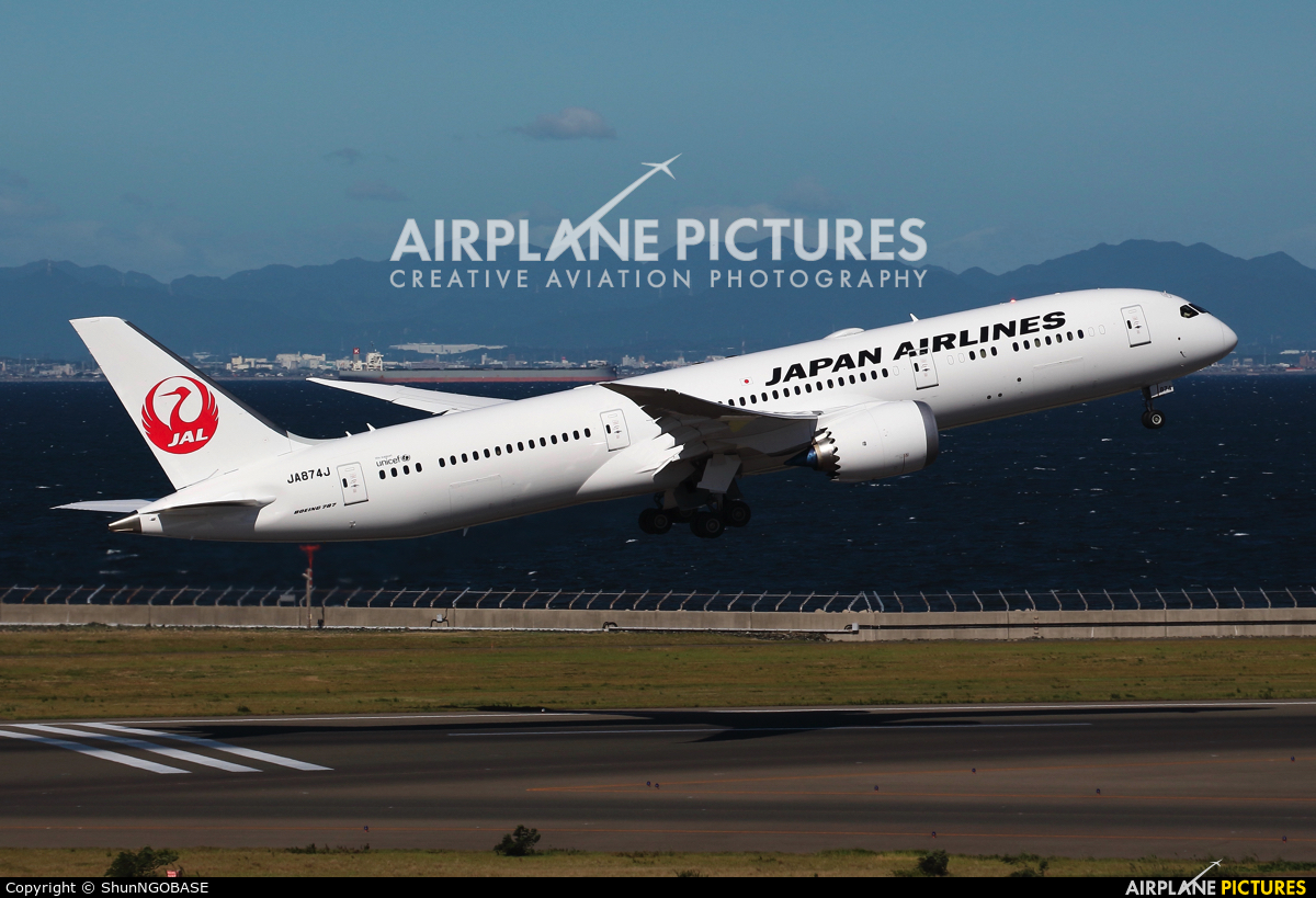 JAL - Japan Airlines JA874J aircraft at Chubu Centrair Intl