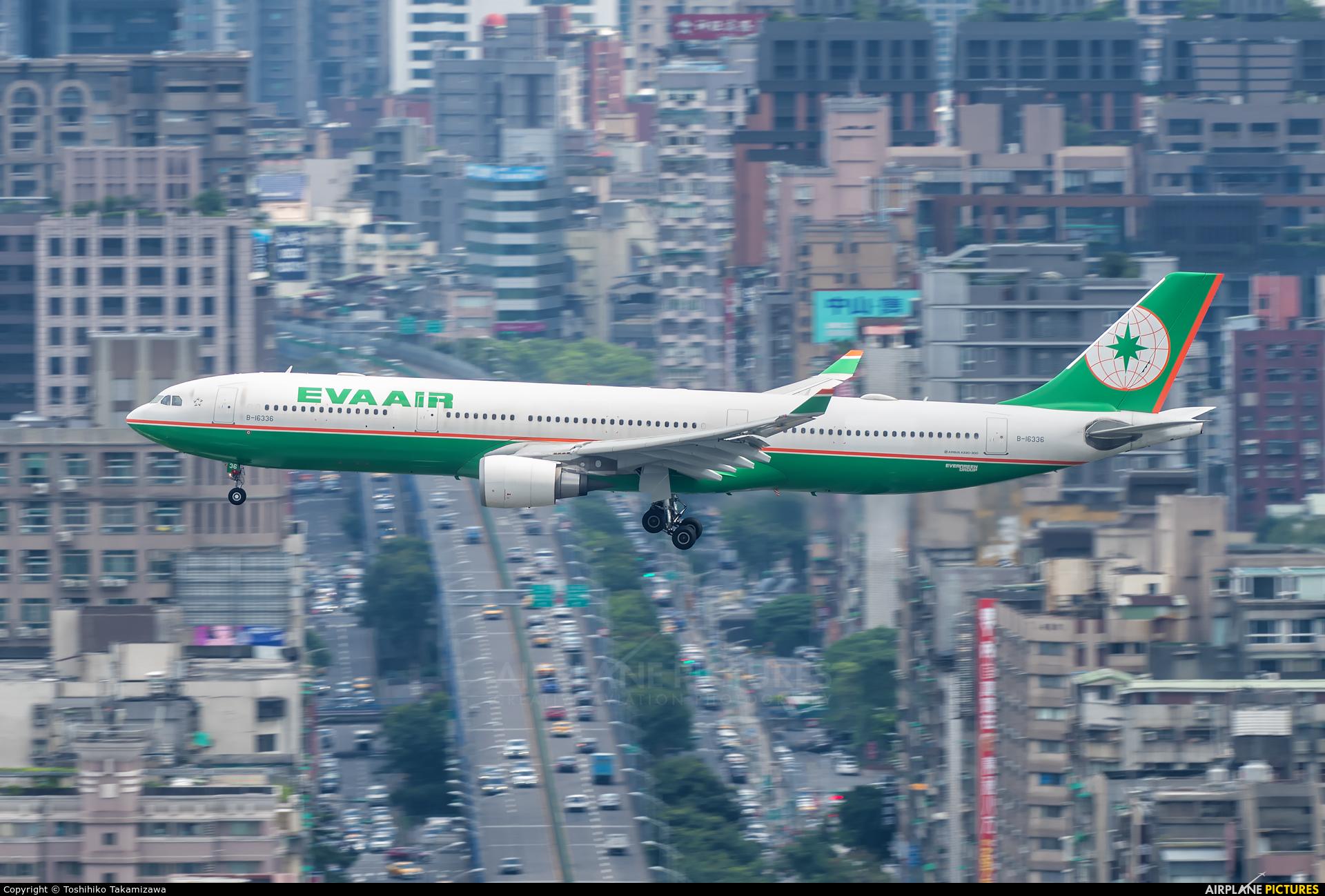Eva Air B-16336 aircraft at Taipei - Sung Shan