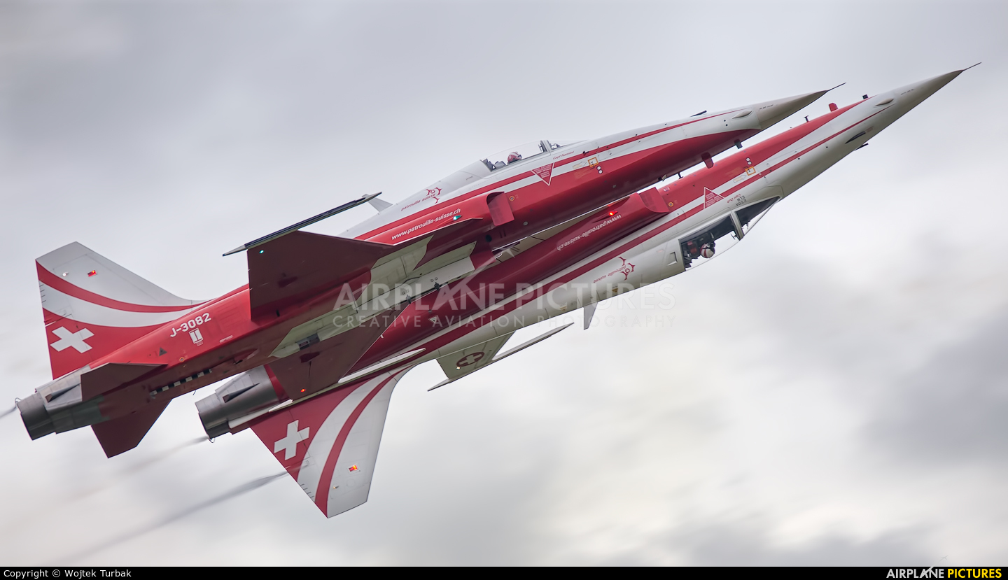 Switzerland - Air Force:  Patrouille de Suisse J-3082 aircraft at Radom - Sadków