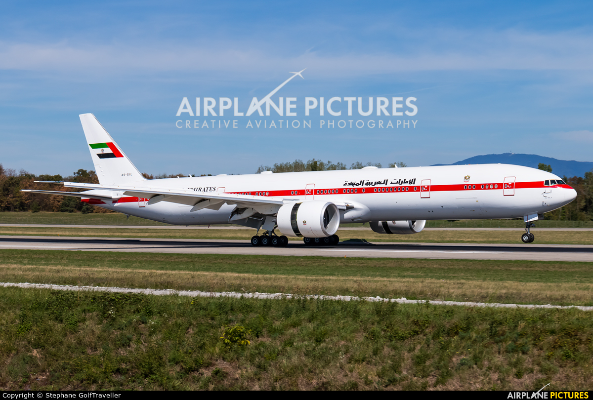 United Arab Emirates - Government A6-SIL aircraft at Basel - Mulhouse- Euro