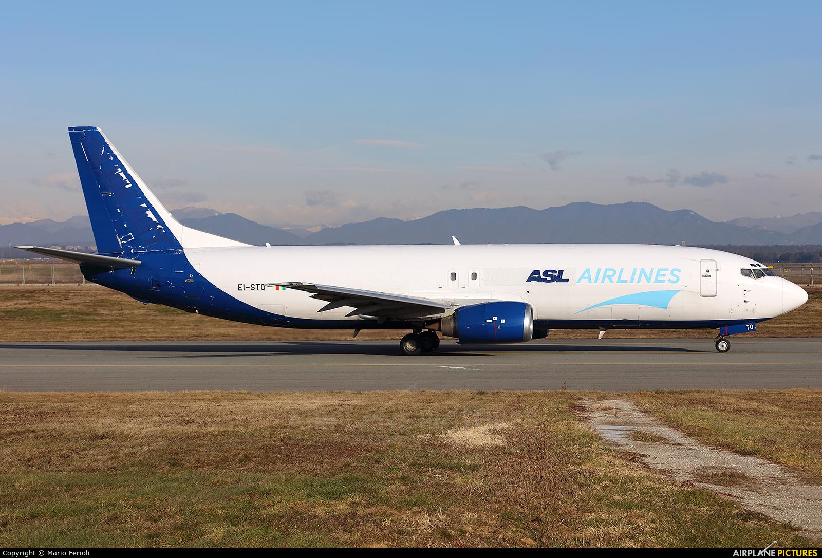 ASL Airlines EI-STO aircraft at Milan - Malpensa