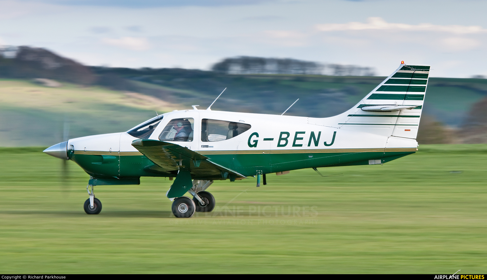 Private G-BENJ aircraft at Old Sarum