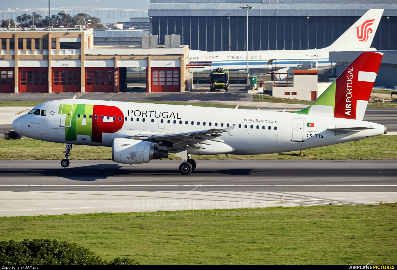 TAP Portugal CS-TTS aircraft at Lisbon