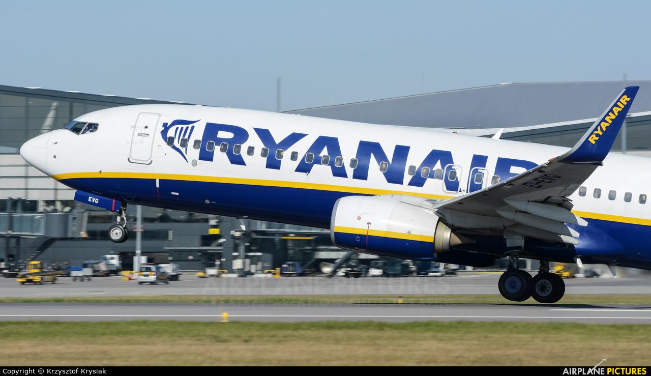 Ryanair EI-EVG aircraft at Gdańsk - Lech Wałęsa