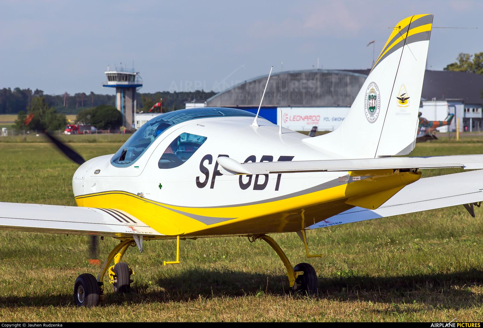 Private SP-GBT aircraft at Świdnik