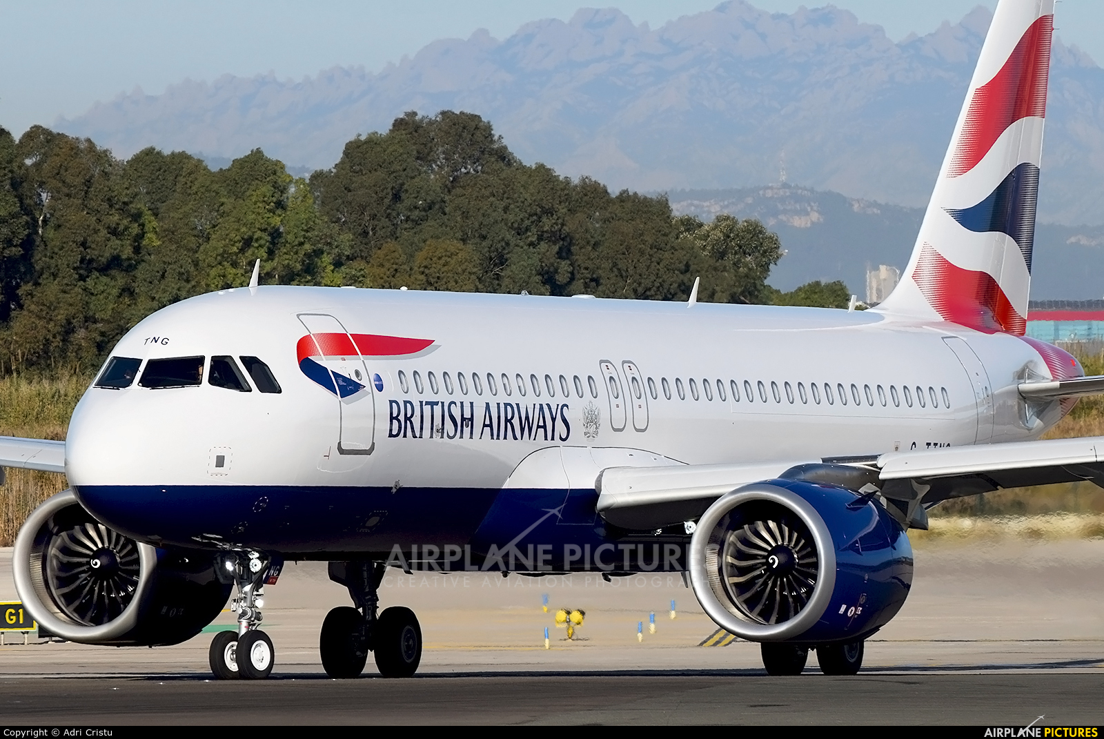 British Airways G-TTNG aircraft at Barcelona - El Prat