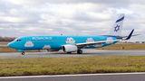 El Al Israel Airlines Boeing 737-800 4X-EKO at Warsaw - Frederic Chopin airport