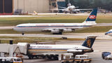 JAT - Yugoslav Airlines Boeing 707-300 YU-AGI at London - Gatwick airport