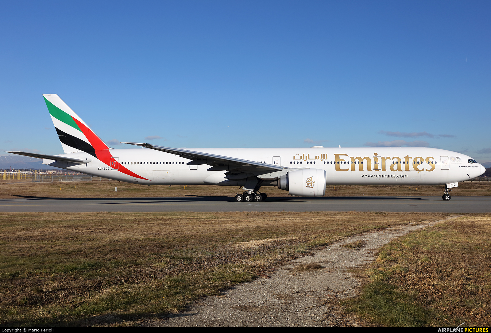 Emirates Airlines A6-EGG aircraft at Milan - Malpensa