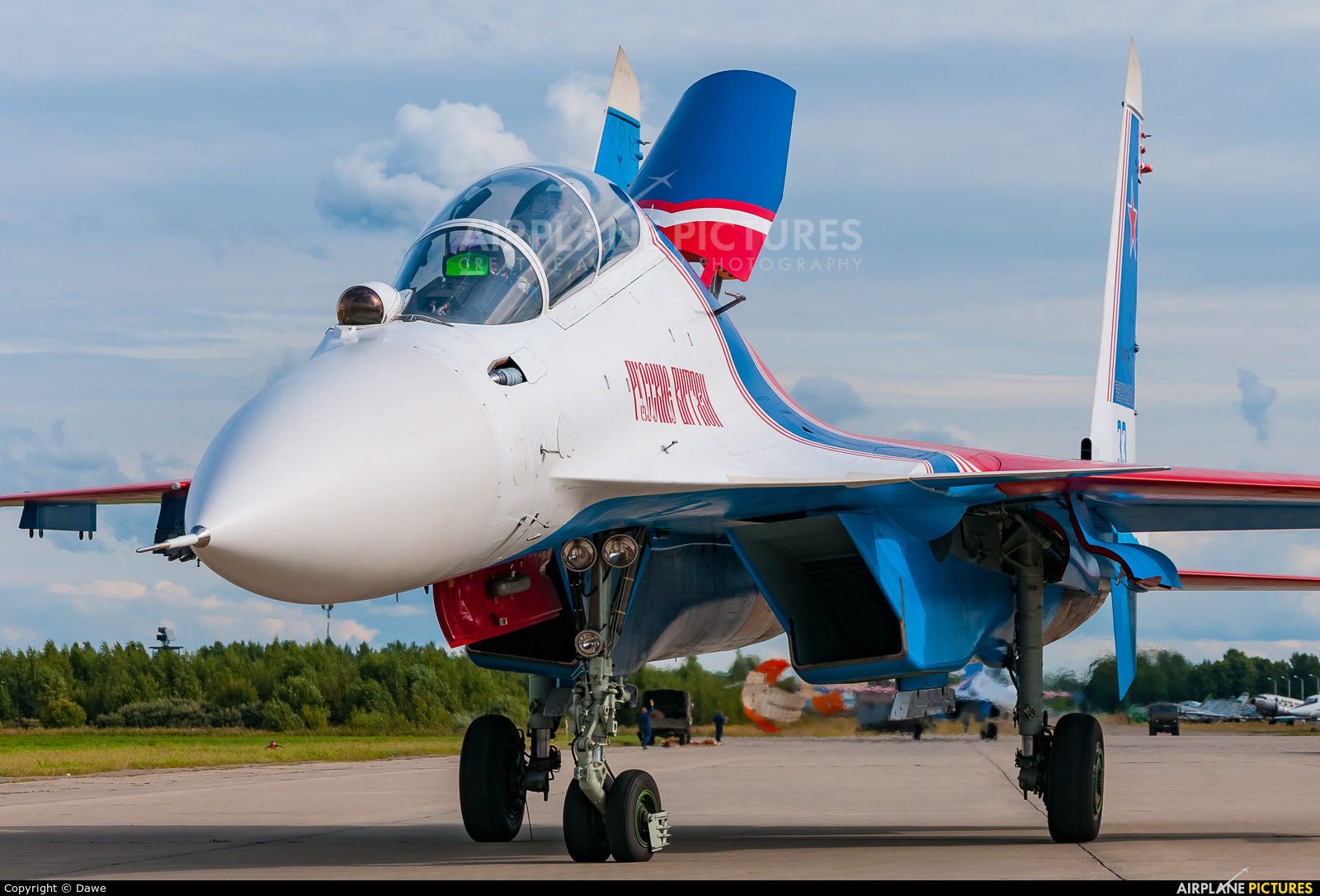 "Russia - Air Force ""Russian Knights"" RF-81704 aircraft at Kubinka"