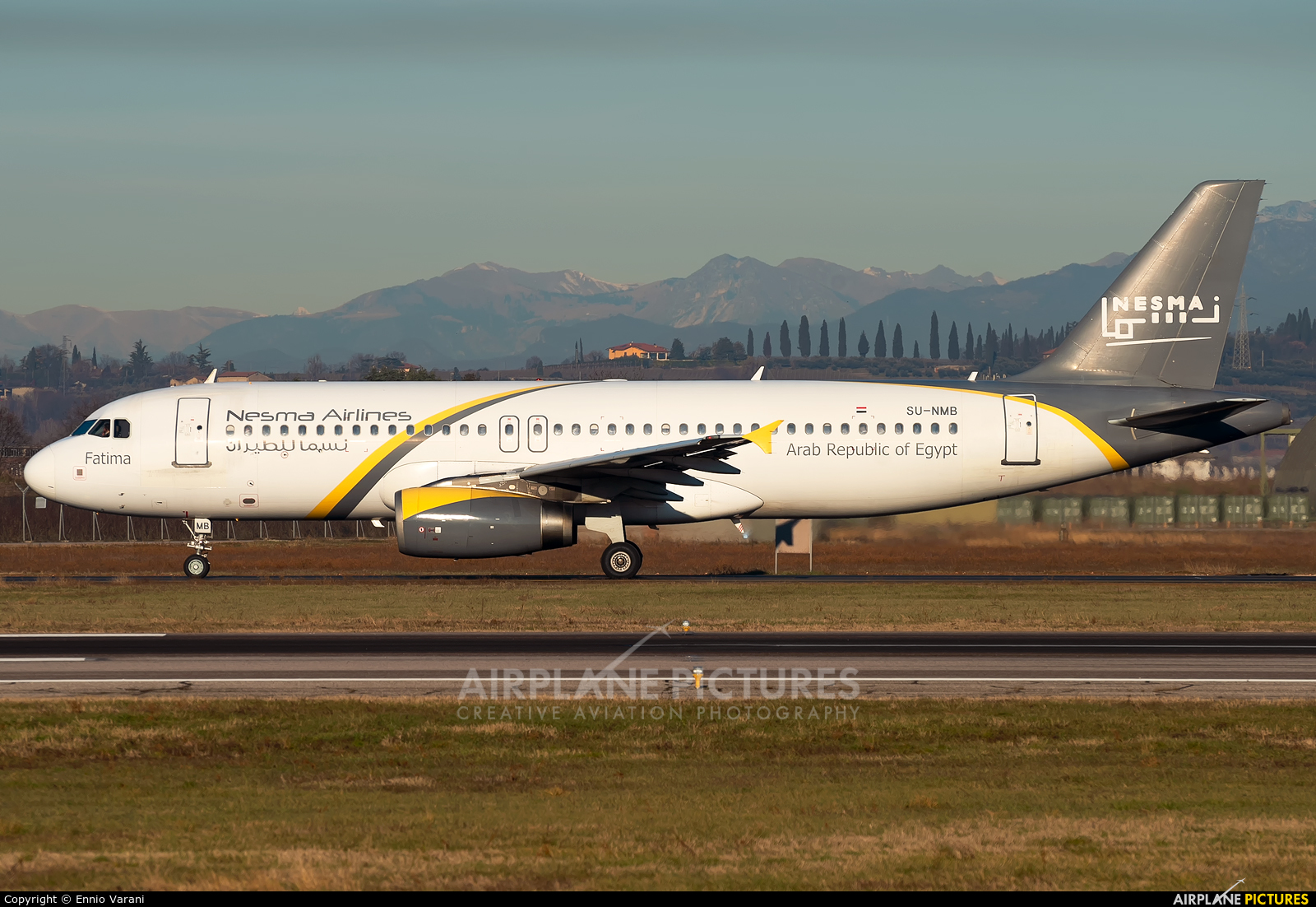 Nesma Airlines SU-NMB aircraft at Verona - Villafranca